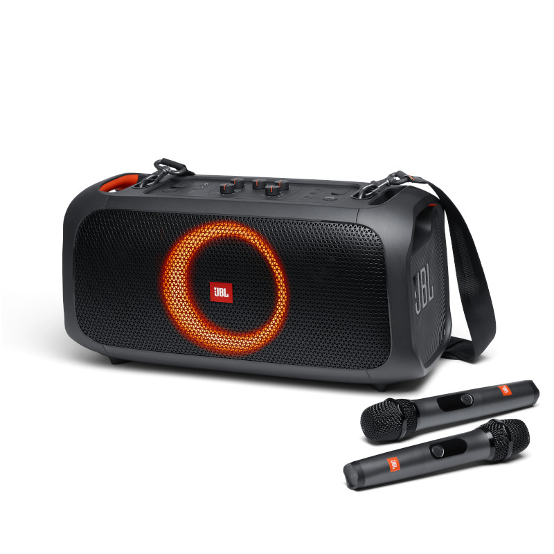 JBL PartyBox On-The-Go Portable Party Speaker with Mic - Black