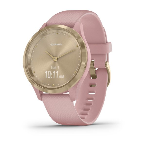 Garmin Vivomove 3S Sport - Dust Rose Silicone with Light Gold Hardware